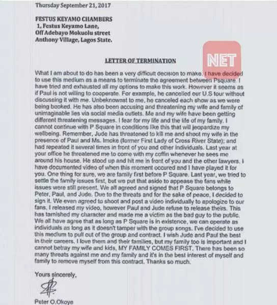 Full Details Of The Latest Peter And Paul Of Psquare Fights