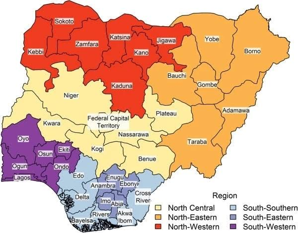 Nigerian states their meaning and origin